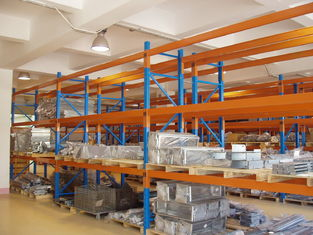Three Beam Level Selective Pallet Racks for Logistic Management Blue
