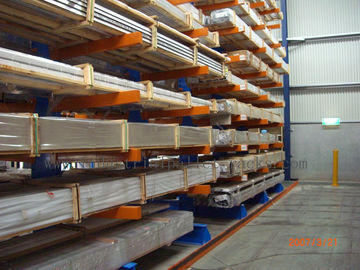 Warehouse Cantilever Racking Systems Both Side for Aluminum Pipe